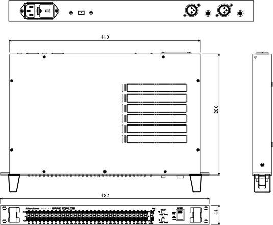 eq-2131 单31段图示均衡器